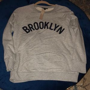Jcrew sweat shirt grey size small